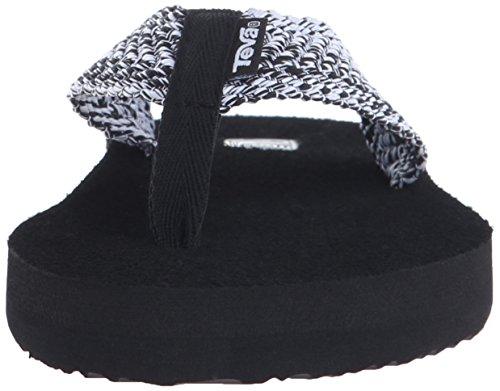Teva Womens Mush Ii Flip-flop Tiki Zwart / Wit