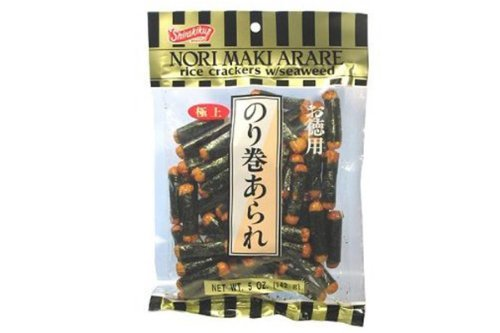Nori Maki Arare (Rice Crackers with Seaweed) - 5oz (Pack of 12)
