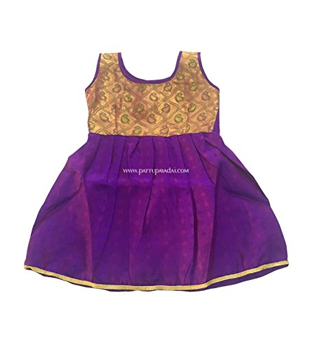 a9bd72438 Pattu Pavadai Baby Girl s Silk Frocks (12 months