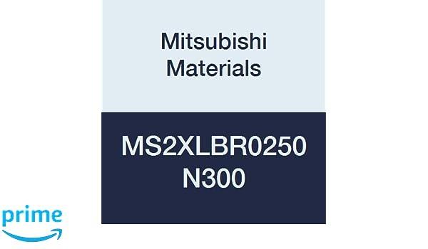5 mm Cutting Diameter 2.5 mm Corner Radius 2 Short Flutes 30 mm Neck Length Long Neck Mitsubishi Materials MS2XLBR0250N300 Carbide Mostar Ball Nose End Mill