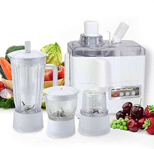 Jecrina 4-in-1 Food Processor 500 W Juicer Mixer Grinder with 3 Jar and 1 Juicer Jar (White)