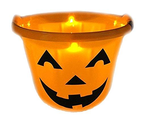 Light Up Trick Or Treat Bucket - Shawshank INC Flashing Pumpkin Halloween Bucket