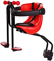 Child Bike Seat,with Safety Belt Child Safety Cushion with Backrest Foot Pedals Bicycle Safety Chair Outdoor S