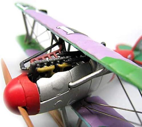 Modelvliegtuig, 1:72 Albatros D.V miniatuur gevechtsmodel, 3,9 inch x 4,5 inch, Metal Fighter militair model, militair vliegtuigmodel, voor herdenkingscollectie of woondecoratie
