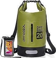 Waterproof Dry Bag, Arteesol Ultralight PVC Dry Sack 5L/10L/20L/30L Waterproof Backpack with Double Shoulder A