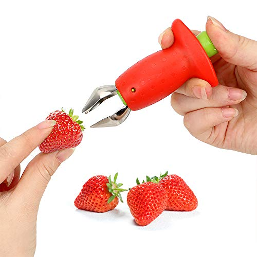 Strawberry Huller Cherry Pitters Portable Gadget Knife Fruit Vegetable Leaf Stem Remover Tomato Stalks Kitchen Tool, 1 Piece