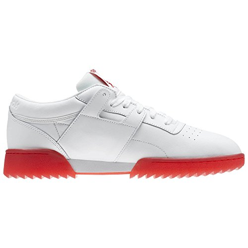 Reebok Mens Workout Clean Ripple Ice Cross Trainer Bianco / Rosso Primordiale