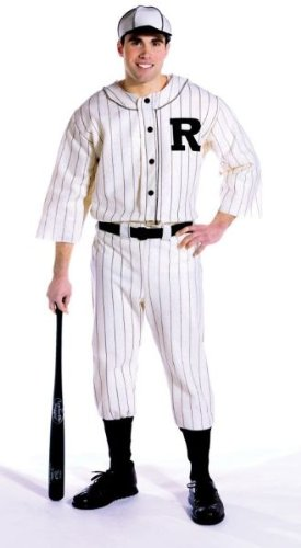 Old Baseball Player Costume (Old Tyme Baseball Player Adult Costume - One Size)