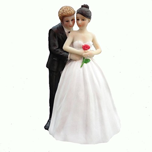 Homanda Romantic Rose Resin Wedding Decoration Cake Topper for Wedding Engagement Bridal shower Wedding Anniversary