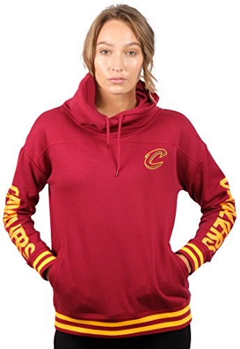 fan products of NBA Women's Cleveland Cavaliers Fleece Hoodie Pullover Sweatshirt Funnel Neck, Large, Red