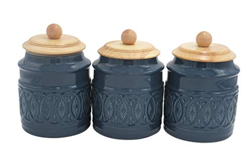 (Ravenna Classic Stoneware 3-Piece Canister Set, 7