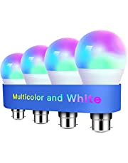 Alexa Light Bulbs WiFi Smart Bulbs B22 Bayonet [4 Pack] Compatible with Echo Alexa Google Home Dimmable Warm Light and Multicolor by Meross 810Lumens 60W Equivalent