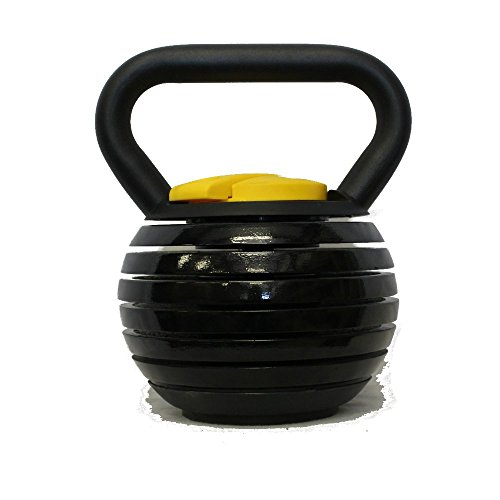 Kettlebell Kings | Black Adjustable Kettlebell | 10 - 40 Pounds Made For Diverse Workouts and Home Use