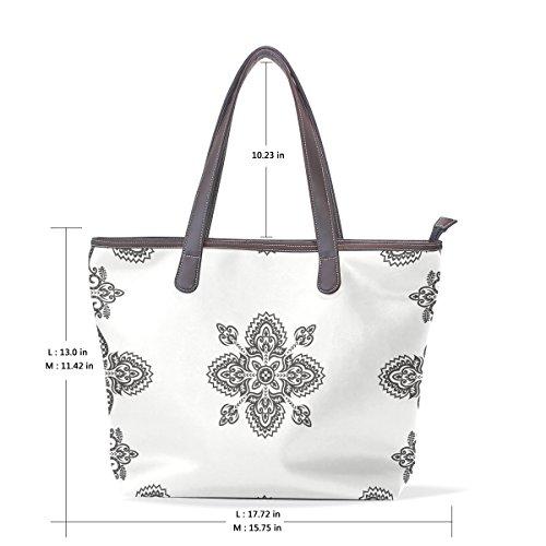 3b53f660c4009 Coosun Womens Floral Patterns Pu Leder Große Einkaufstasche Griff  Umhängetasche ...