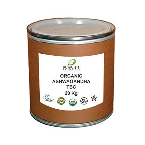 Bulk Ashwagandha Root Powder Tea Bag Cut, USDA Organic 20 KG or 44 lbs.