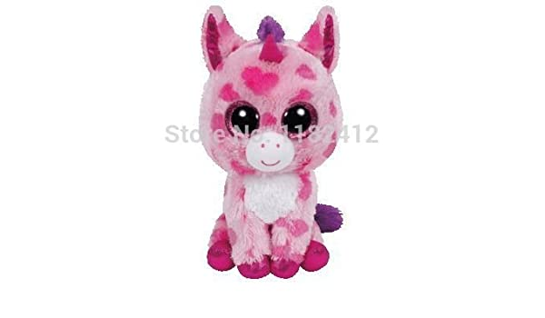 Amazon.com  New TY Plush Animals Beanie Boos Sugar Pie Pink Unicorn Toy  15cm 6   Cute Ty Big Eyed Stuffed Animal Kids Toys for Children Gift  Baby b7f01b3d169