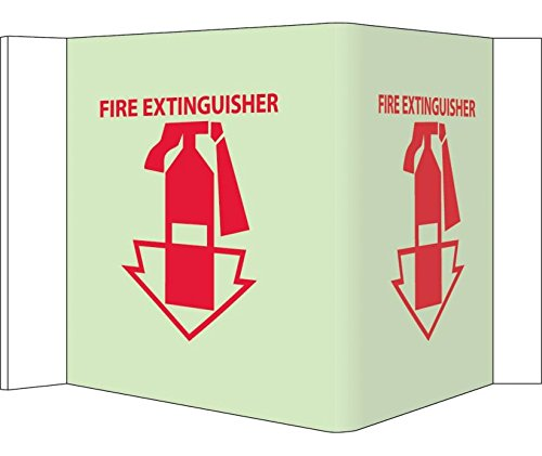 National Marker GLV30 Red//White AcrylicglowFIRE Extinguisher Visi Sign 5.75 Length x 8.75 Width