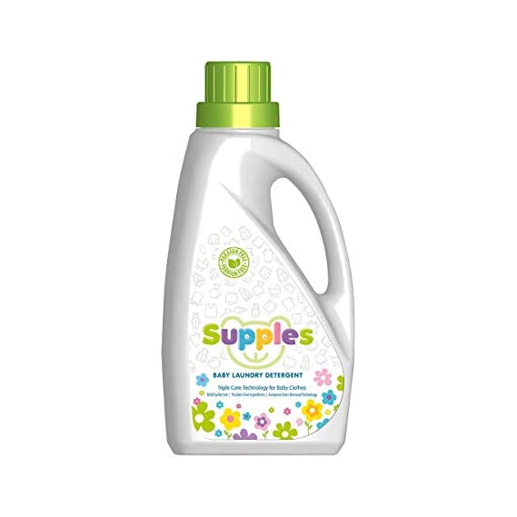 Supples Extra Mild Liquid Detergent for Baby Laundry (With European Triple Stain Removal Technology) - 1 L