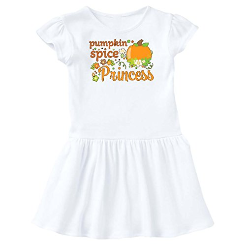 inktastic Pumpkin Spice Princess Toddler Dress 3T White - White Dress Spice Baby