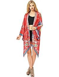 Womens Kimono Top w Asymmetrical Cut