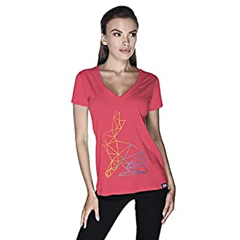 Creo Bunny Animal T-Shirt For Women - Xl, Pink