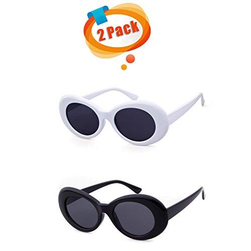 Cobain Classic Retro Mens SunglassesFrame Oval SunGlasses - Sunglasses B&m
