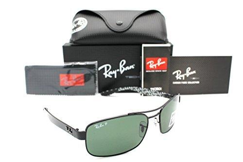 Ray-ban Sunglasses RB 8316 002/N5 62mm Black Carbon Fibre Crystal Green - Sunglasses Carbon Fibre Ban Ray