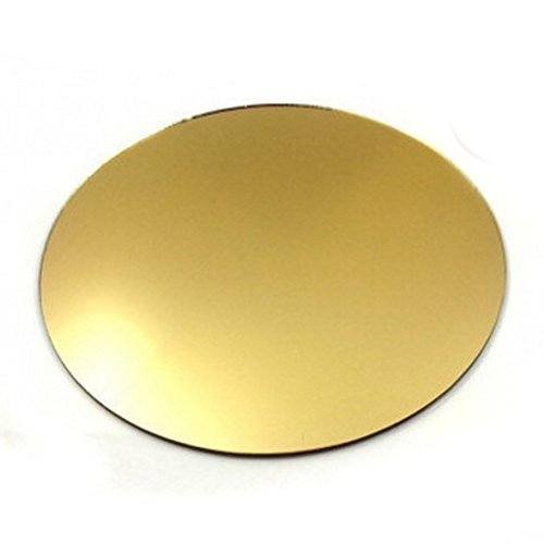 6 Round Gold Mirror Acrylic Coasters by Super Cool Creations