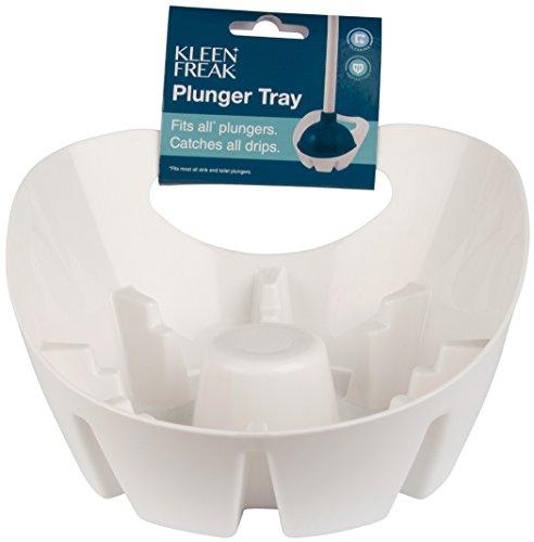 (Kleen Freak 3001500 Antibacterial GERM GUARD Universal Plunger Holder Tray, White)