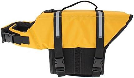 4 Sizes Doggie Style Store Yellow Dog Lifejacket Life Jacket Float Swimming Vest Pet Safety Suit PFD Coat