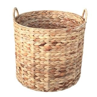 Medium Water Hyacinth Round Storage Basket home-decor