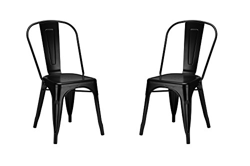 Poly and Bark Trattoria Side Chair in Black (Set of 2)