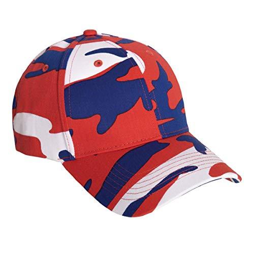 Profile Low Supreme Cap - Rothco Color Camo Supreme Low Profile Cap, Red/White/Blue Camo
