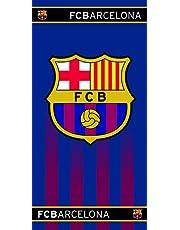 FC Barcelona handdoek, 100% katoen, 70 x 140 cm, blauw