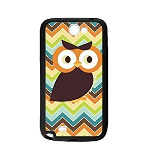 Owl Chevron Print Personalized Custom For Case HTC One M8 Cover