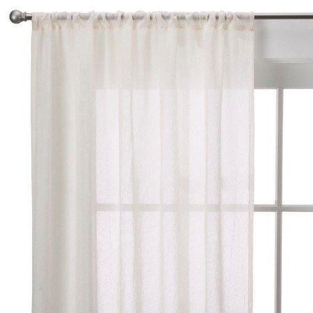Room Essentials Crinkle Sheer Curtain Panel - Ivory 40