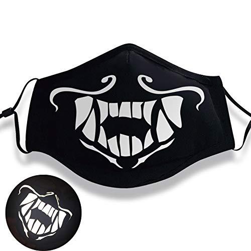 Shancon KDA Akali Cosplay Mouth-Muffle Mask Reflective Adjustable Cotton Dust-Proof Black Winter Warm Adult Unisex Halloween 2018 -