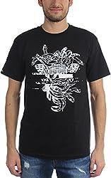 Crooks & Castles Men's Galactic Medusa T-Shirt, White, Small