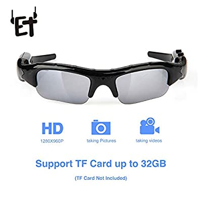 Wide Angle Sunglasses Camera Mini Eyewear DV DVR Video Recorder Outdoor Sports Camcorder Support TF Card for Driving Glasses