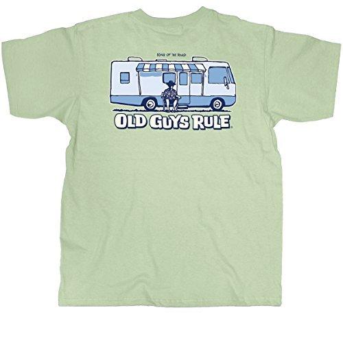 (Old Guys Rule Men's King of the Road T-Shirt (Medium))