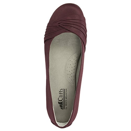 Scaldavivande Piatto In Pelle Bordeaux