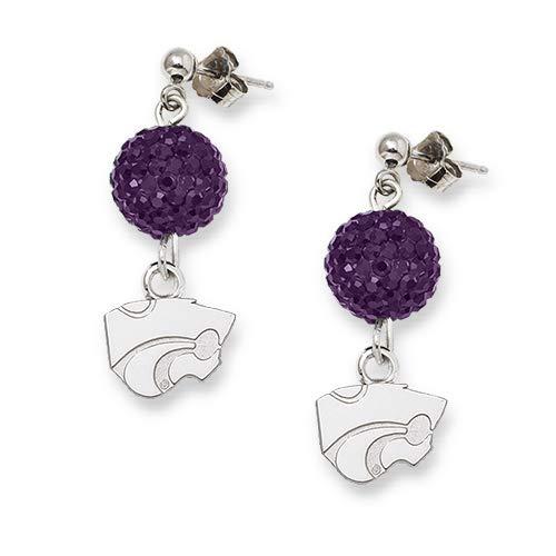 LogoArt Kansas State University Crystal Ovation Earrings