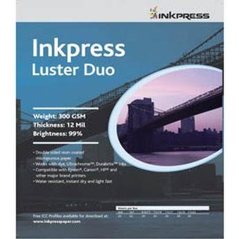 Inkpress PCLD131920 Commercial Luster Duo Inkjet Paper 13in. X 19in. 20 Sheets