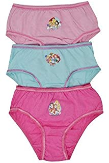 Girls Princess Kids Characters 100% Cotton Briefs Underwear Slips Knickers  3 Pack Girls' Clothing Knickers