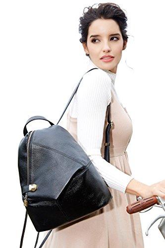 BOYATU Womens Leather Backpacks Ladies Travel Purse Satchel Shoulder School Bags(Royal bule) by BOYATU (Image #1)