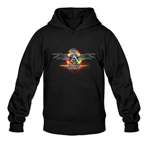 Cool Ark Survival Evolved ARPG Game Logo Long Sleeve Hoody For Men Black Large -