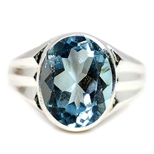 Taille Naturelle K Bague Avec T Bleue Homme Topaze Jewelryonclick H Pour R Argent 5 S J Carats P Z U X En I tZPwqWYS