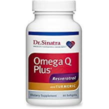 Dr. Sinatra's Omega Q Plus Resveratrol and Turmeric Supplement Delivers Advanced Support for Healthy Inflammation, Circulation, Blood Pressure, and Overall Heart Health, 60 Softgels (30-day supply)