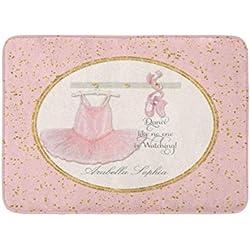 """zixi Custom Bath Mat Girl Room Ballet Ballerina Dance Tutu Home Bathroom Decor Rug 15.7""""x 23.6"""" Inches Entrance Mat Floor Rug Indoor/Outdoor/Front Door/Bathroom Mats Rubber Non Slip"""