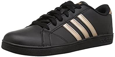 adidas Originals Unisex-Kids Baseline Sneaker, Black/Copper Metallic/Black, 4 M US Big Kid